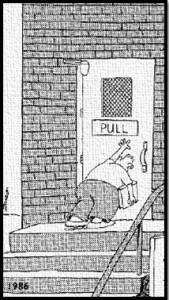 Push Pull Door - i run by faith